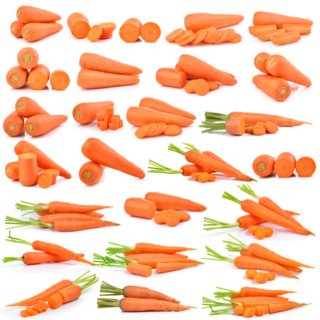 carrot: fresh carrots isolated on a  white background