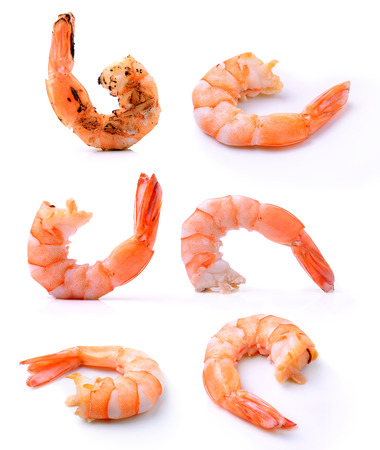 shrimps on a white background Stock Photo