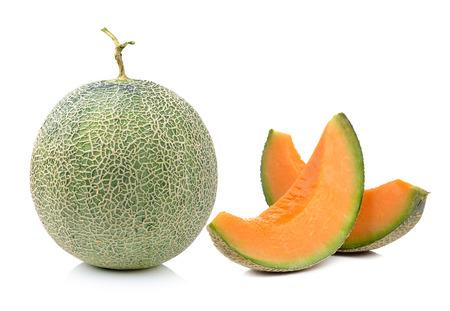 cantaloupe melon isolated on white background Фото со стока