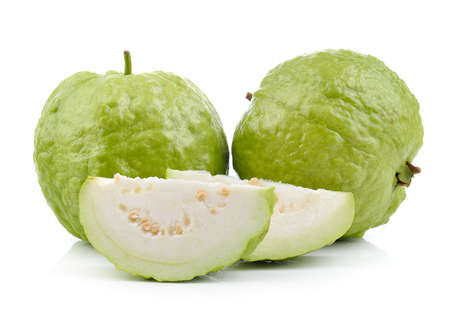 guava fruit: guava on white background