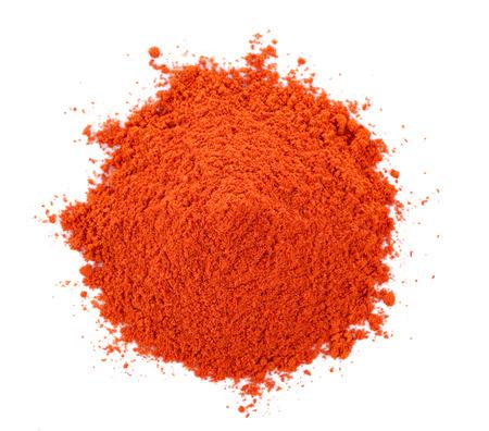 Pila de polvo de pimentón rojo