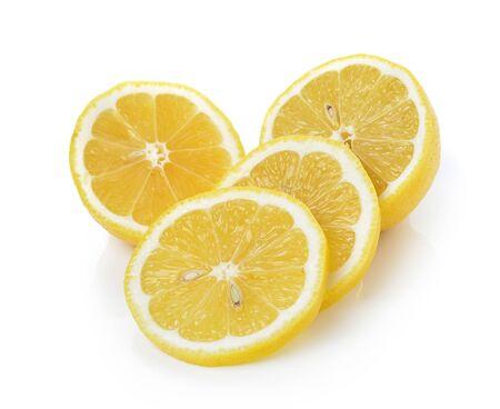 lemon slices: lemon slices on white background