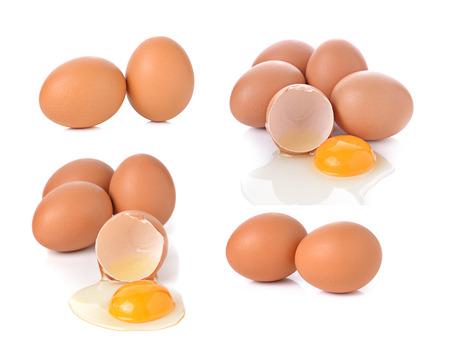 huevo: huevos aislados sobre fondo blanco Foto de archivo