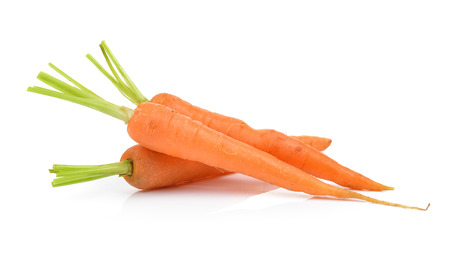 carrots isolated on a  white background