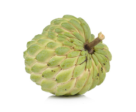 anona: custard apple on white background Stock Photo