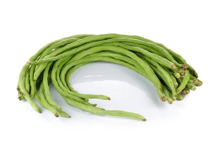 long bean: Yard Long bean on white background
