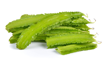 winged: winged bean on white background