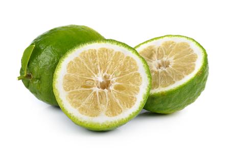 orenge: Citrus medica Linn on white background