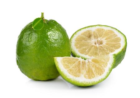 citrus aurantium: Citrus medica Linn on white background