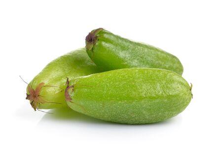 bilimbi: Bilimbi (Averhoa bilimbi Linn.) or cucumber fruit on white background