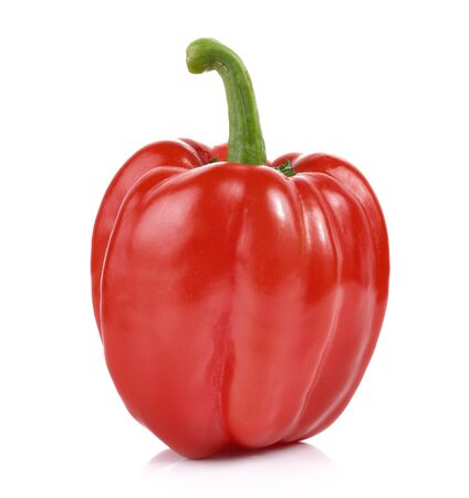 bell peper: red pepper over white background