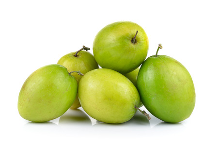 jujube fruits: Monkey apple isolated on white background