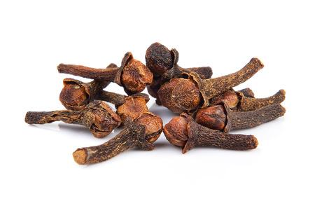Spice cloves on white background Stock Photo