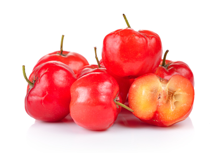 Ripe thai cherry on white background