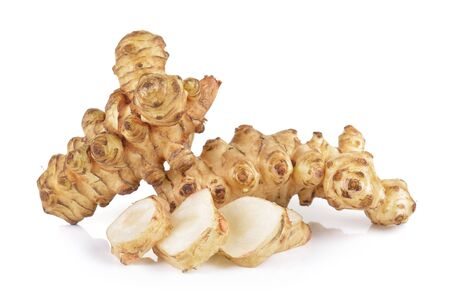 jerusalem artichoke: Jerusalem artichoke on white background