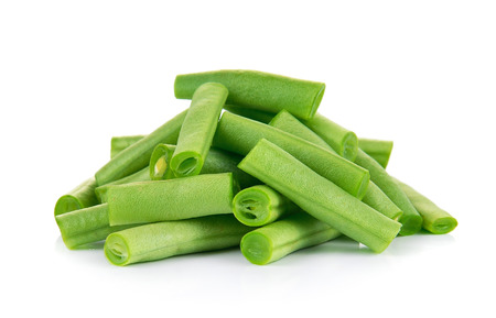 isolated on green: Green beans isolated on a white background
