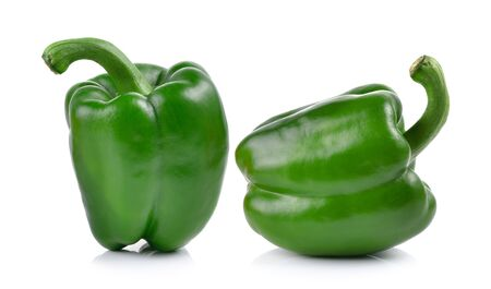 green pepper: green peppers on white background