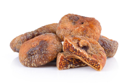 Dried figs isolated on a white background Zdjęcie Seryjne
