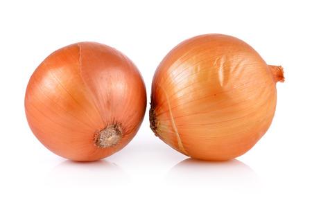 cebolla blanca: cebolla sobre fondo blanco