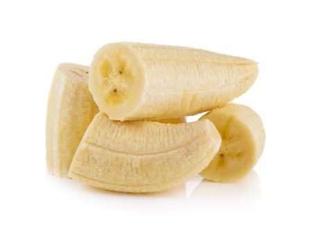 banana skin: banana on white background