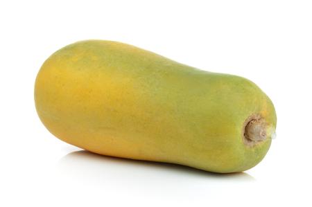 sweet pulp: ripe papaya on white background Stock Photo