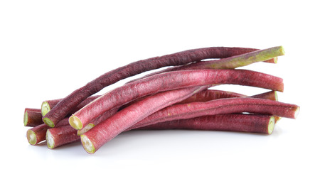 long bean: red Long bean isolated on white background