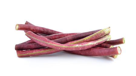 long beans: red Long bean isolated on white background