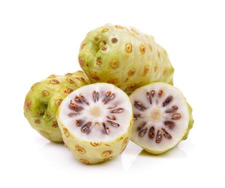 noni: Noni fruits on white background