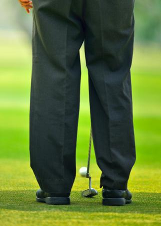 playing golf: Man playing golf