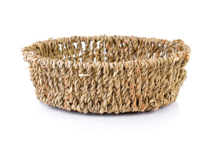 wicker: Empty wicker basket Stock Photo