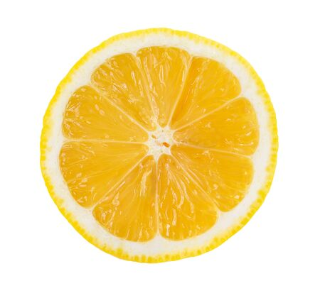 lemon slice: lemon slice isolated on white background Stock Photo