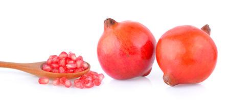 Pomegranate fruit on white background