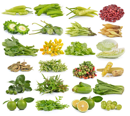 moonflower: set of fruit and vegetable