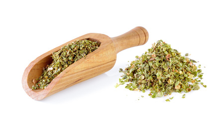 Dried Oregano on white background
