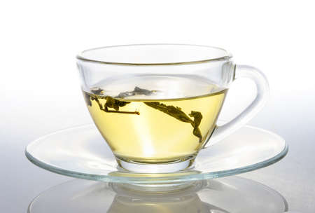 rooibos: cup of tea on white background