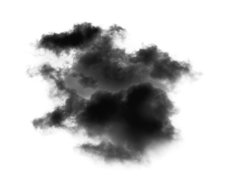 black cloud on white background Banque d'images