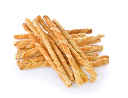 pretzel: pile of delicious pretzel sticks isolated on white background