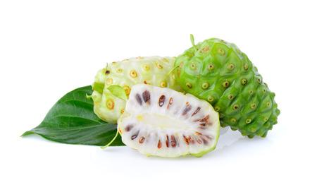 noni: Noni fruit on white background Stock Photo