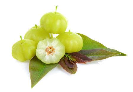 gooseberry: star gooseberry on white background Stock Photo