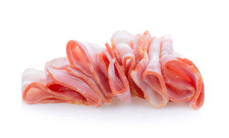 meaty: bacon isolated on white background