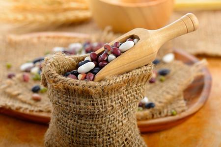 grains mix beans Stock Photo