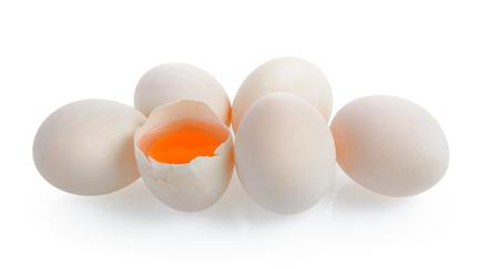 duck egg: Duck eggs on white background Stock Photo