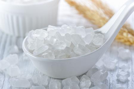 白い氷砂糖 写真素材