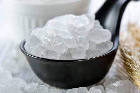 white rock sugar Stock Photo