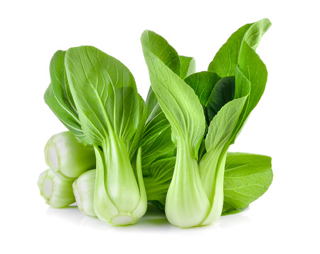 Bok choy vegetable on white background Stock fotó