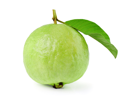 Guava on white background Stock Photo