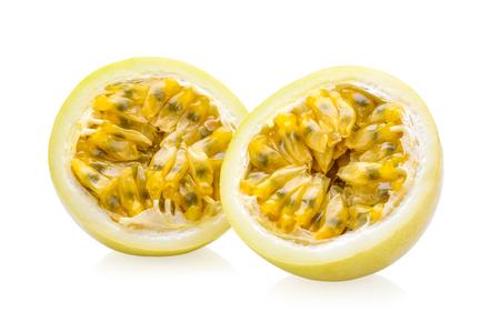 passionfruit isolated on white background Stock Photo