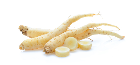 ginseng isolated on white background Banque d'images