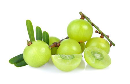 Indian gooseberry isolated on white background Banque d'images