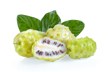 Noni fruit on white background Zdjęcie Seryjne